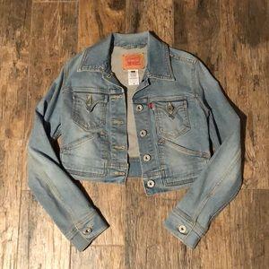 Levi's jean cropped jacket